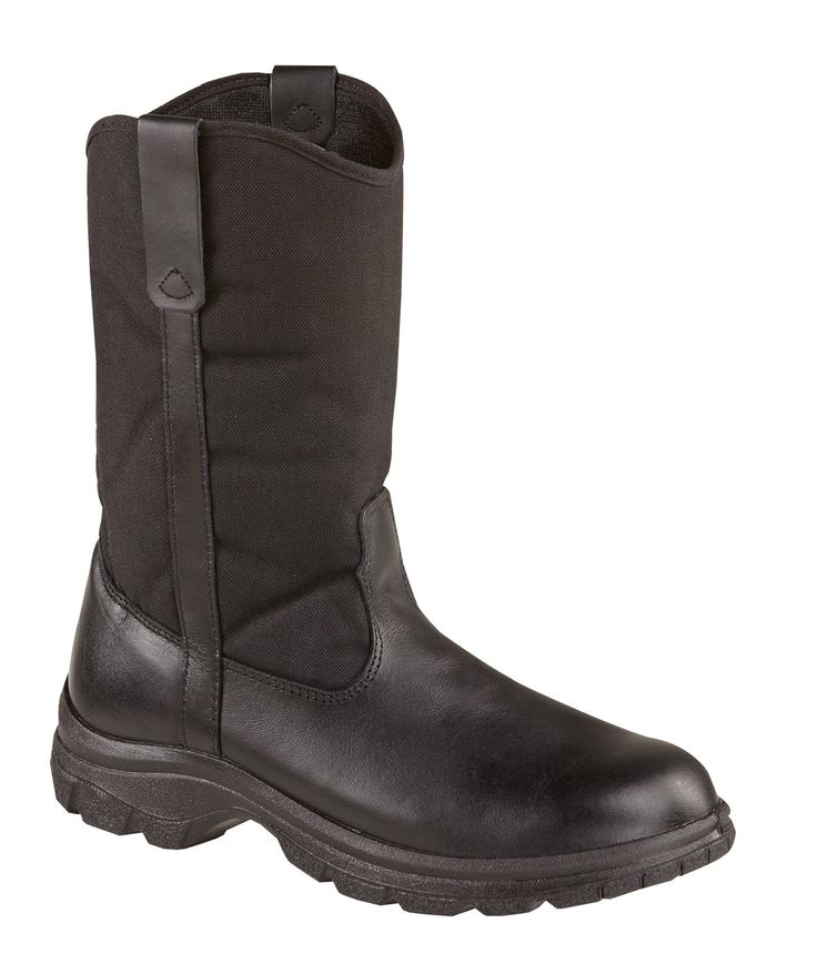 Thorogood Mens Softstreets Black Leather Boots 10in Wellington Non-Safety