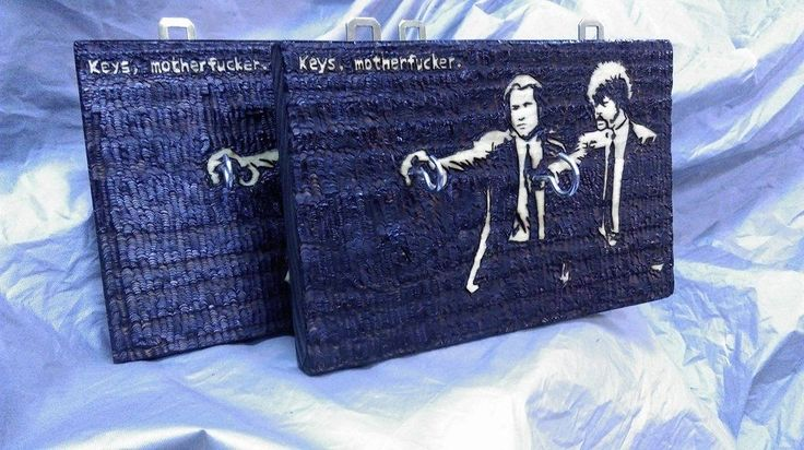 Limited Pulp Fiction hangs. Burned ashwood