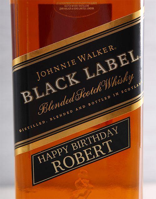 Buy Personalised Johnnie Walker Black Online -Gifts For Men