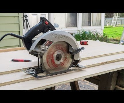 There are a lot of saw guides out there.  This is one is by Jay Bates.  While a nice table saw setup is beneficial for perfectly straight cuts on sheet goods it's not 100% necessary. You can get perfectly straight cuts with a cheap circular saw and a guide track. One of the advantages of using a circular saw and a guide track over using a table saw is most often it's much easier to move the lightweight circular saw over the plywood rather than move the heavier plywood over the table saw.