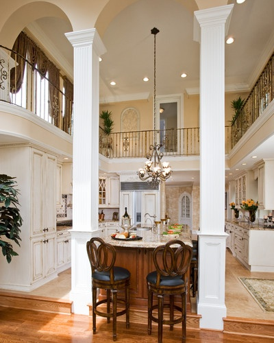 Two Story Kitchen WOW never thought of this.