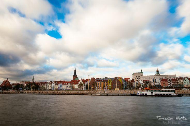 Szczecin widok na Katedrę i Zamek