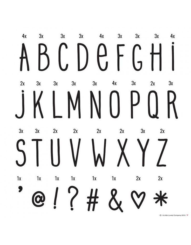 A Little Lovely Company Lightbox Letter Set: Hand Drawn