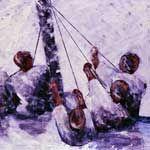 obra 160x 100 cm tecnica mixta La vela latina