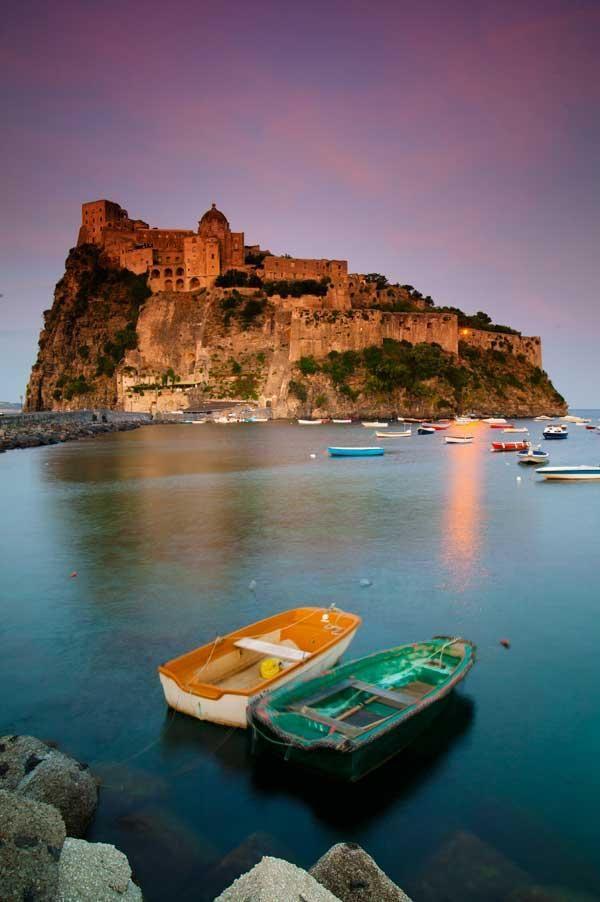 Castello Aragonese on Ischia Island , Italy