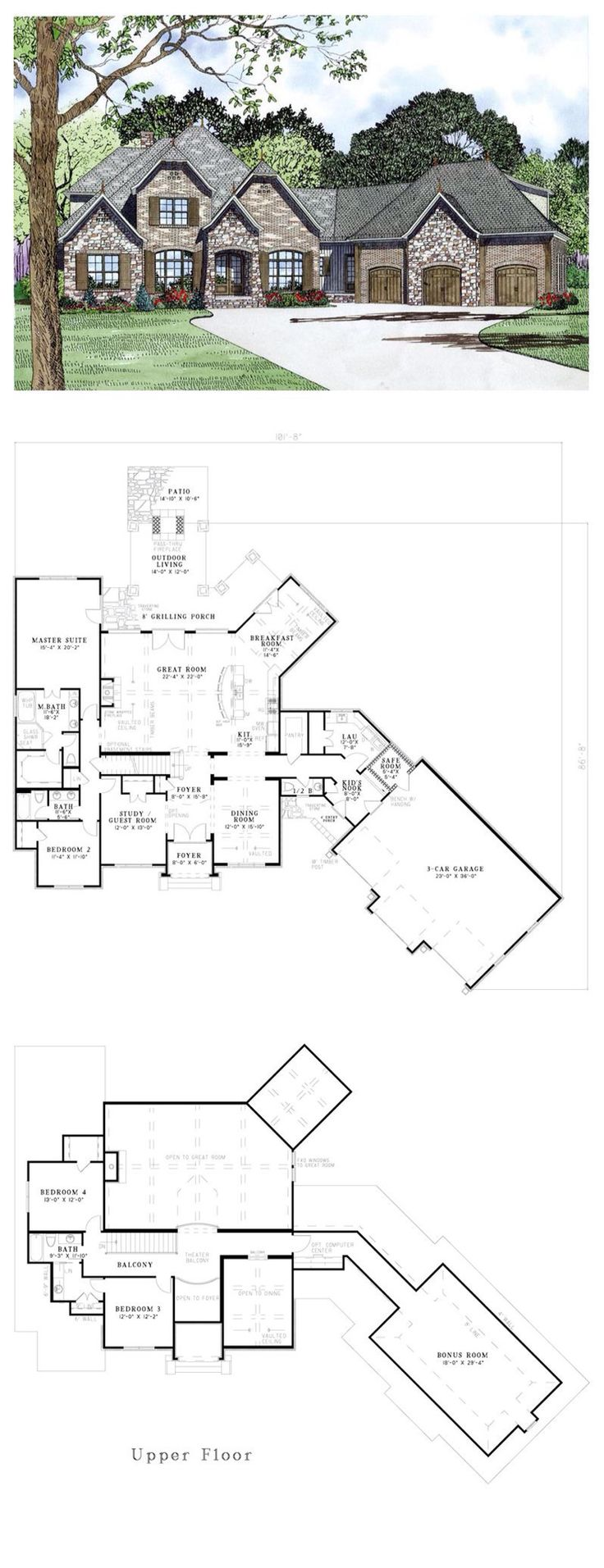 French Country House Plan I love this