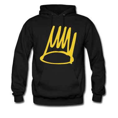 J Cole Gold Crown Hoodie  J Cole Gold Crown Sticker by SupremeCut, $29.99