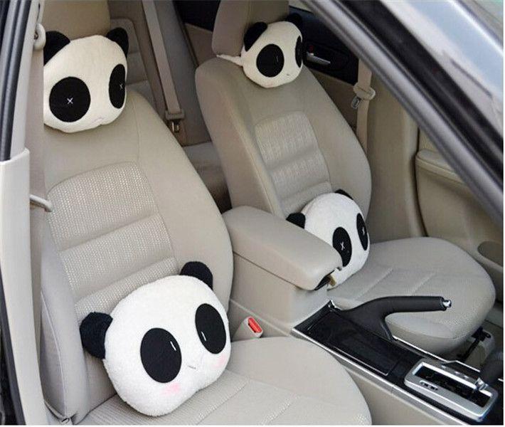 Hot Selling 1pcs Cute Lovely Panda Pattern Car Seat Neck Head Support Soft Back Cushion Headrest
