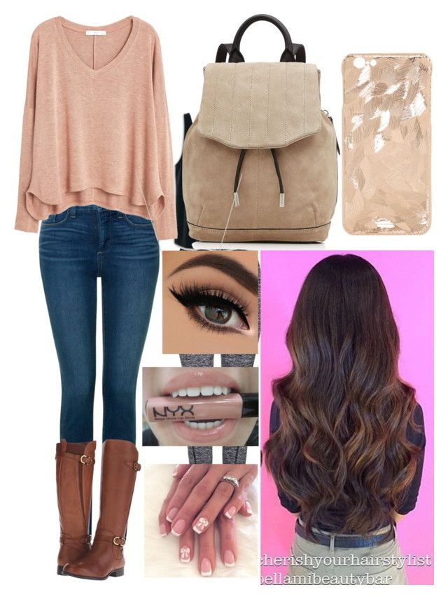 """""""Tori Vega (from Victorious) inspired outfit"""" by x1dlover4everx ❤ liked on Polyvore featuring Topshop, MANGO, NYDJ, Naturalizer, rag & bone, Tiffany & Co. and NYX"""