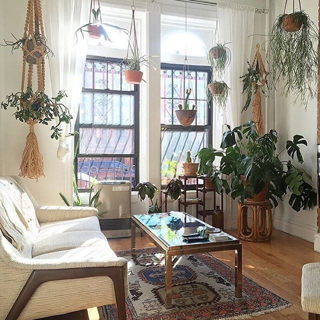 Plant living room inspiration | Dreamy bohemian interior | @invokethespirit
