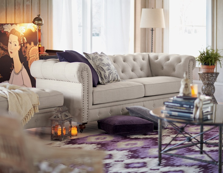 144 best Tufted sofa images on Pinterest | Living room, Home ideas ...
