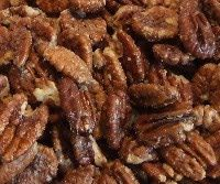 Salted Pecans or Walnuts - 1 lb raw pecans or walnuts, 4 tbs butter (melted and cooled) 2 tsp salt. Preheat oven to 350. Place nuts in large bowl. Add butter and mix to coat. Add salt and stir. Spread in single layer in large baking sheet. Bake 15-20 min, stirring occasionally. Cool in pan. Freezes well!