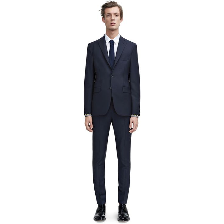 Acne Studios Drifter plain weave jacket dark navy is a classic, slim fitting suit jacket.