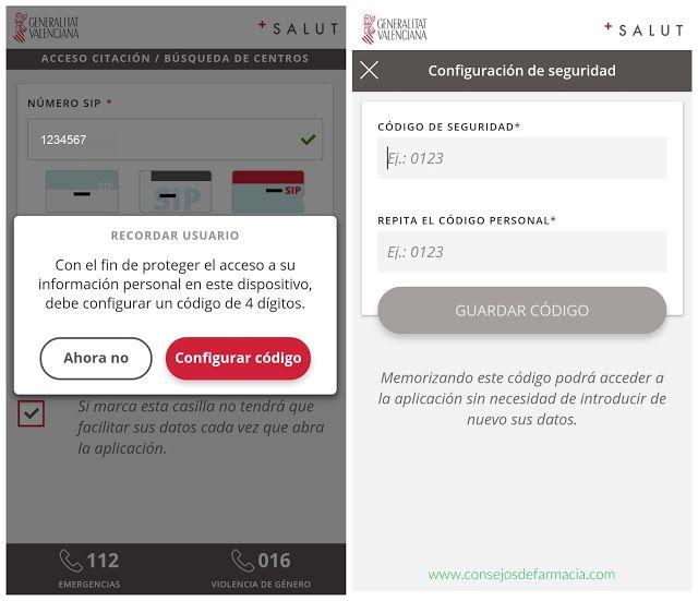 App GVA Mes Salut - clave de seguridad    ¿Sabías que ya puedes pedir cita en tu centro de salud desde el móvil?  En el blog #consejosdefarmacia te explico cómo funciona la app GVA +Salut, paso a paso 😉  #farmacia #parapacientes