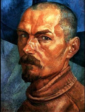 Kuzma Petrov-Vodkin - Self-portrait, 1918