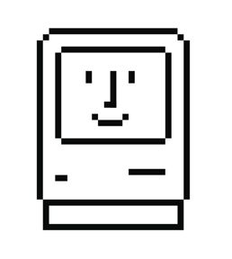 Susan Kare's original icon for Finder on the Mac. Great article at NeuroTribes. Written by Steve Silberman.
