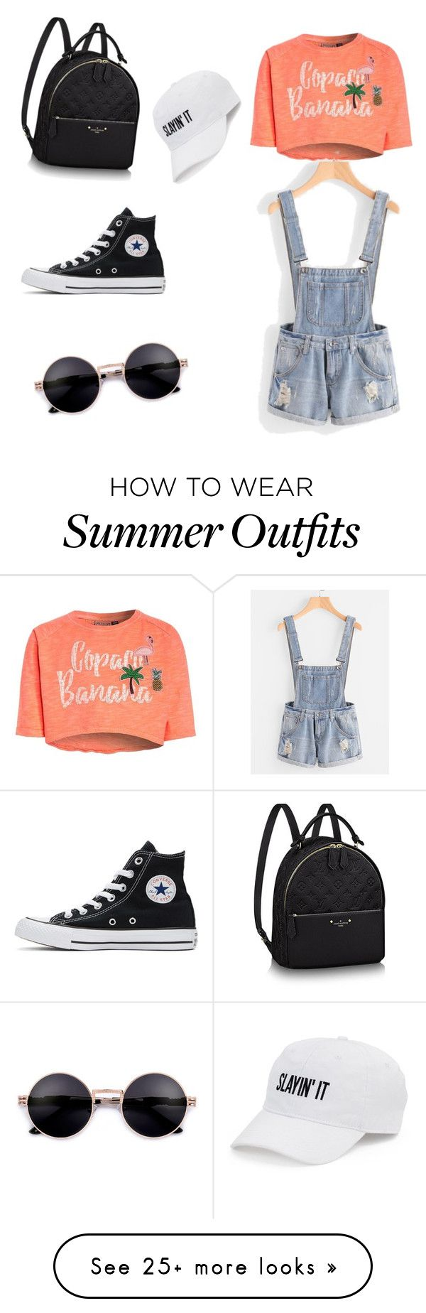 """cool outfit for summer p2"" by farahromdane on Polyvore featuring Converse and SO"