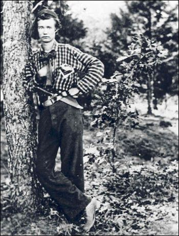 One of the most famous and poignant photographs to come out of the Civil War is this unidentified young soldier, a member of the 4th Michigan Volunteer Infantry taken in 1861.