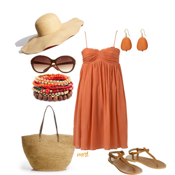 Beach chic: Summer Day, Style, Coral Outfits, Summer Beaches Outfits, Summer Outfits, Sunny Summer, Summer Beach Outfits, Big Hats, Vacations Outfits