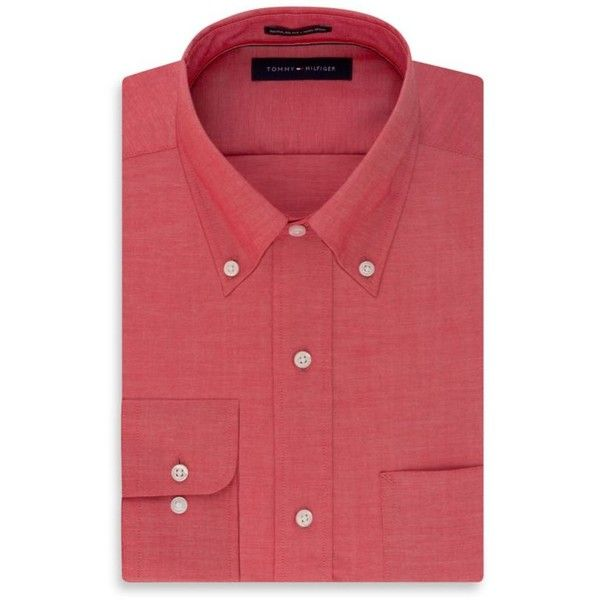 Tommy Hilfiger Berry Non Iron Soft Touch  Ular Fit Dress Shirt (2.385 RUB) ❤ liked on Polyvore featuring men's fashion, men's clothing, men's shirts, men's dress shirts, berry, mens short sleeve dress shirts, men's non iron dress shirts, mens long sleeve shirts, mens regular fit shirts and men's no iron short sleeve shirts