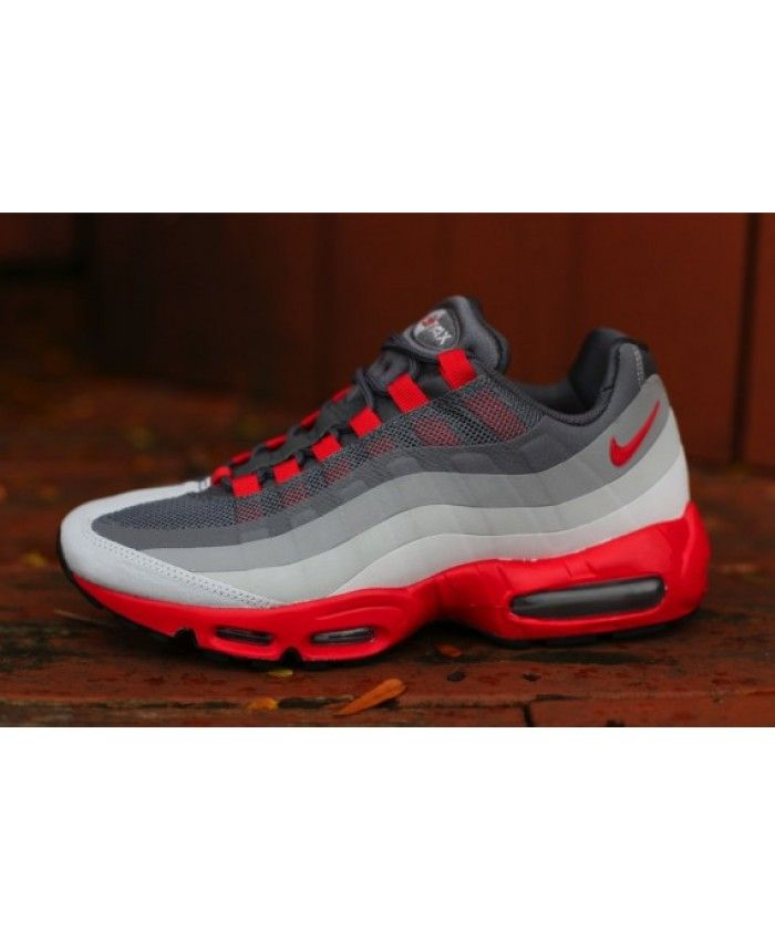ee81d07a31f7e9 Nike Air Max 95 Red And Grey Trainers Sale