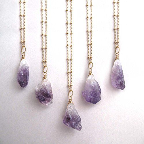 Gold Dipped Natural Raw Purple Amethyst Crystal Quartz Drop Hook Earrings (In Organza Bag) Zs7UE