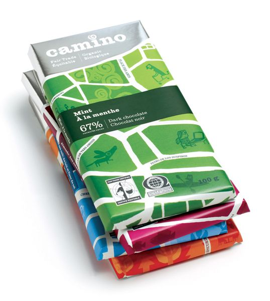 Design: Food Packaging, Package Design, Camino Chocolate, Packaging Design, Chocolates Bar, Colors Packaging, Chocolate Packaging, Packaging Chocolates, Chocolates Packaging