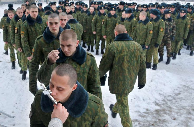 Friday, January 8: Minsk, Belarus Servicemen of the Belarus Interior Ministry's special unit line up to kiss an Orthodox cross after an Orthodox Christmas service at their military base in Minsk, Belarus on Thursday, Jan. 7, 2016. Belarus Orthodox believers celebrate Christmas by the Julian calendar on Jan. 7.  -    © Sergei Grits/AP