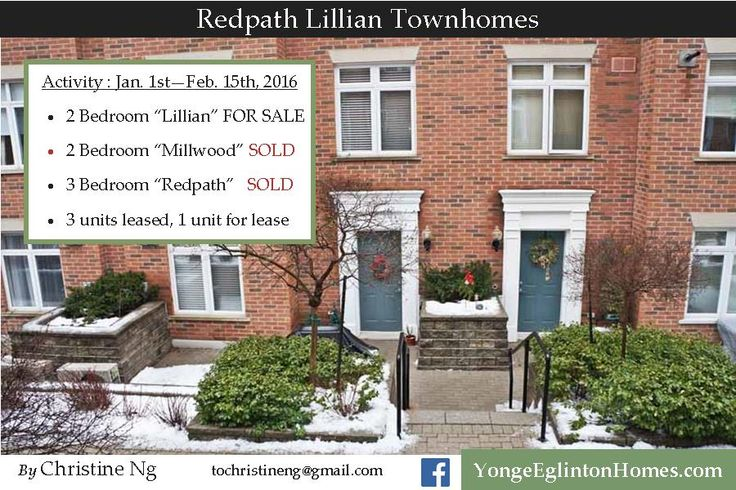 Redpath-Lillian Townhomes at Yonge-Eglinton/Davisville Village. Update Jan-Feb.2016.