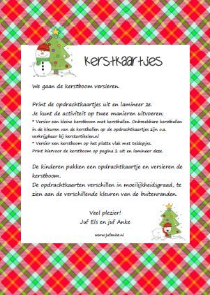 Kerstkaartjes - tellen en getalsymbolen