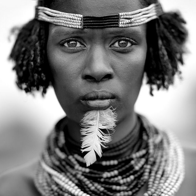 Dassanech woman - Ethiopia The Dassanetch or Geleb live on both sides of the Omo river. They are originally nomadic pastoralists. However, despite their dedication to cattle rearing, current reality reveals that crop cultivation on the flooded banks of the Omo river and its delta are fundamental to their subsistence.