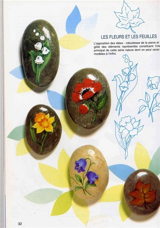 Painted Floral Rocks