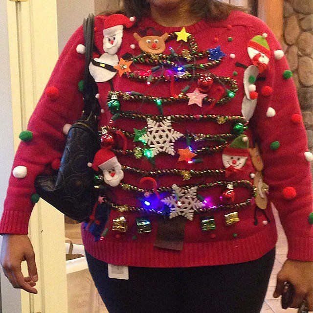 <h2>The DIY Queen Who Used Real, Flashing Christmas Lights</h2> | Ugly Xmas  Sweater Ideas (And I Do Mean UGLY!) | Diy ugly christmas sweater, Ugly  christmas ... - H2>The DIY Queen Who Used Real, Flashing Christmas Lights</h2