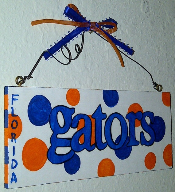 Florida GatorsHandpainted Wood Sign by DesignsByHeather12 on Etsy, $10.00