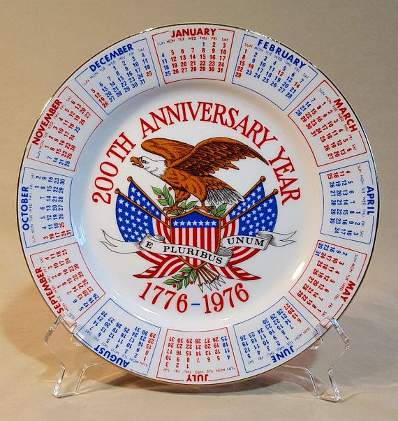 Hey, I found this really awesome Etsy listing at https://www.etsy.com/listing/573663029/bicentennial-plate-by-spencers-gifts