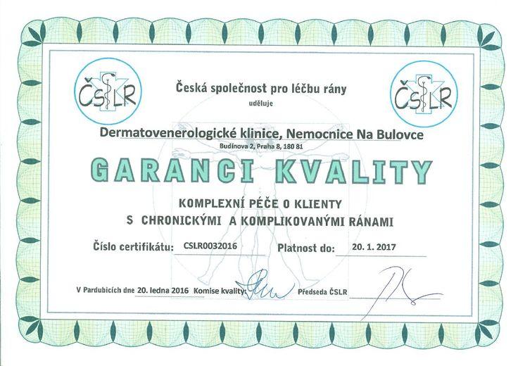 Gratulujeme dermatovenerologické klinice za významné ocenění! A děkujeme primářce MUDr. Darině Zelenkové a vrchní sestře Kateřině Pavlíčkové za práci, díky níž klinika právě toto ocenění získala.
