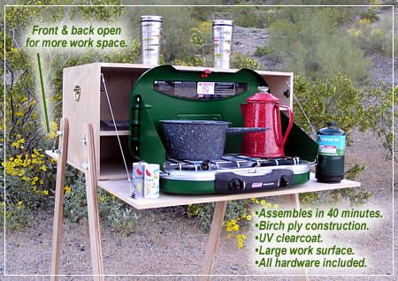Double Classic Chuck Box - I like the adjustable legs, since camp sites are never perfectly level.
