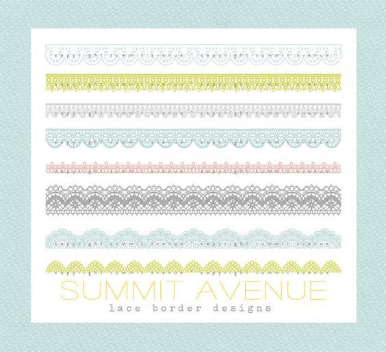 CLIP ART Lace Borders commercial or personal use - for photography , scrapbook or wedding projects via Etsy: