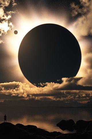 Grand Solar Eclipse iPhone Wallpaper | iDesign * iPhone