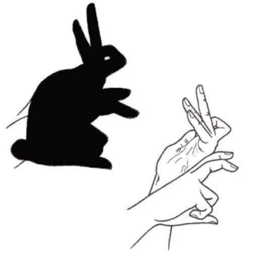 картинка зайца из ладони стильный образ черные