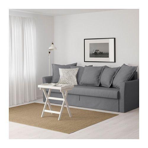 HOLMSUND 3人掛けソファベッド - ノールドヴァッラ ミディアムグレー - IKEA