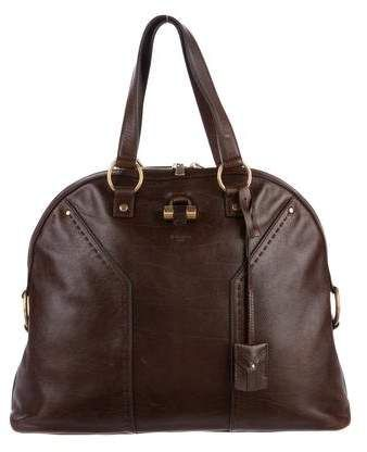 Yves Saint Laurent Leather Muse Tote