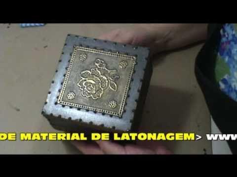 MDF - PÁTINA FERRO COM RELEVO DE LINHOLENE - COM LU HERINGER - YouTube