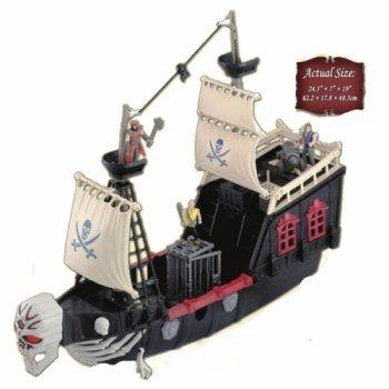 Большой пиратский корабль с фигурками - отличная игрушка для ребенка от 3-х лет  Все открывается, пушка стреляет, якорь выбрасывается, фигура на носу издает звуки и светится. Корабль на маленьких колесиках снизу.  Отличная сюжетно-ролевая игра.  Цена в магазине Головастик 2695 рублей  https://www.golovastik.ru/s...  #сюжетноролеваяигра #пиратскийкорабль #Головастик