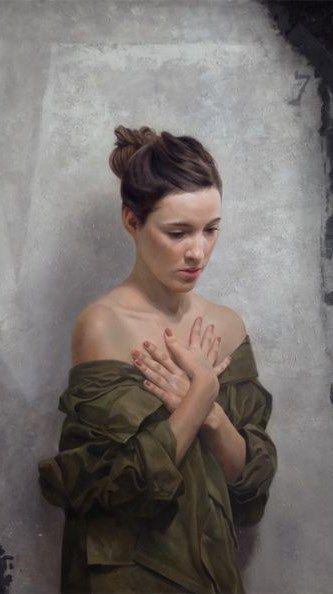 BP Portrait Award Third Prize winner (2014) David Jon Kassan - Jenn (Detail)