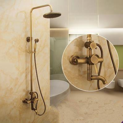 antique wall mount 8 inch shower head hand shower tub shower faucet tsa007