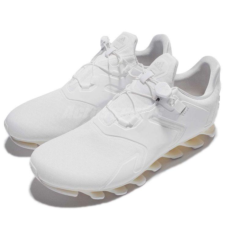adidas Springblade Solyce M White Ivory Laceless Men Running Shoe Sneaker B49645