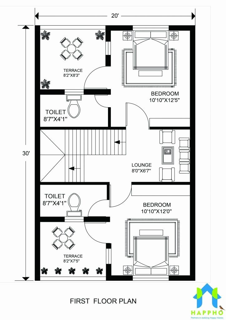 House Plans 600 Sq Ft Awesome Floor Plan For 20 X 30 Feet Plot In 2020 Indian House Plans 20x40 House Plans 20x30 House Plans