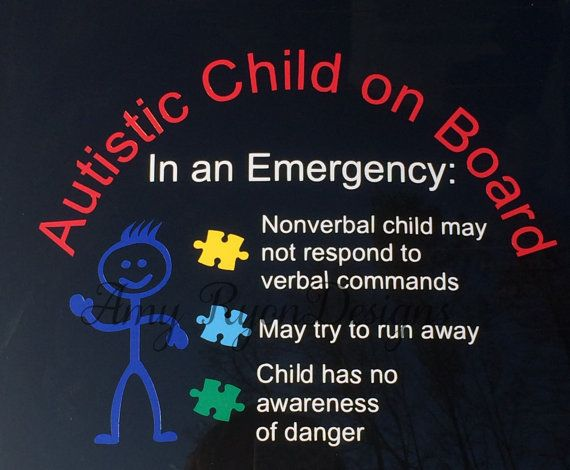 This Autistic Child on Board Decal will immediately alert emergency responders if youre in an accident. As a mother of a nonverbal autistic son, I know the constant stress we are under as parents, grandparents and caregivers. Give yourself peace of mind in case you are injured in an accident and cant respond to emergency responders yourself. The decal size is 5.5 inches tall by 7.2 inches wide.  I use high quality permanent vinyl. The minimum application temperature is 46F. The decal is…