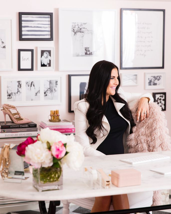 Rachel Parcell / Pink Peonies Office Reveal...